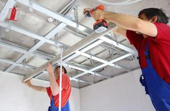 metal stud plafond plaatsen